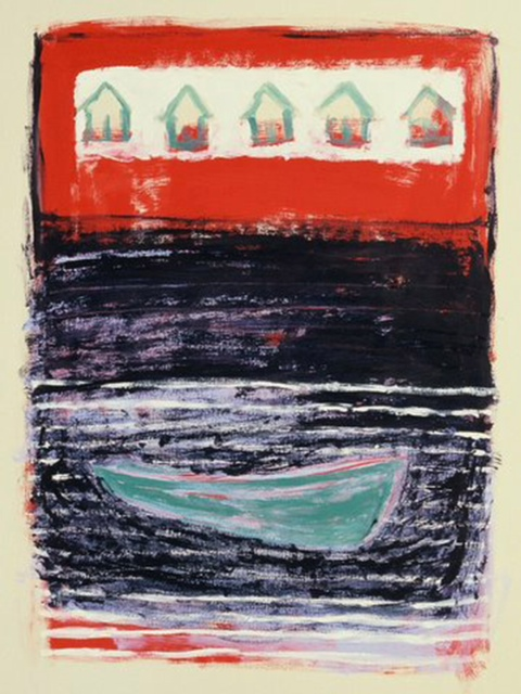 Anne Gresinger: Cecy's niece. Acrylic on paper, Maine 1984.
