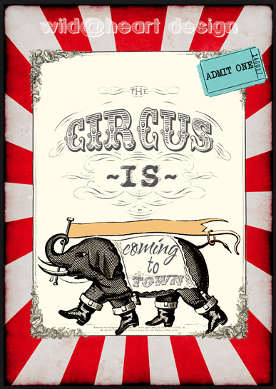 Circus graphic, used with permission by Wild @ Heart Design