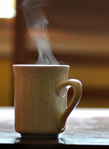 Steam Rising From Hot Coffee  by Sharon Sayre