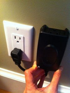 Plug in receiver and secure it to the wall with a single screw.