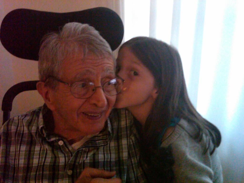 Santo and his granddaughter Cece, June 2011