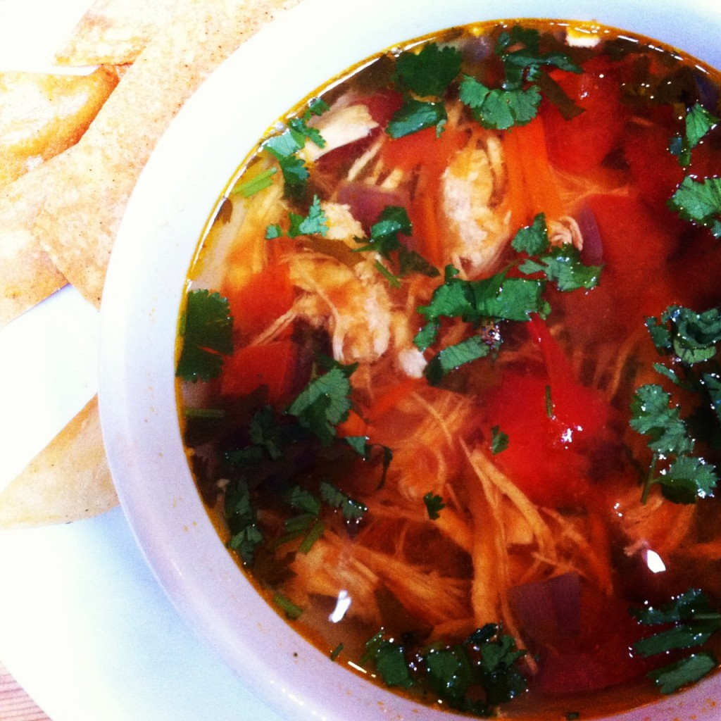Chicken Tortilla soup from Rosie in New Canaan CT