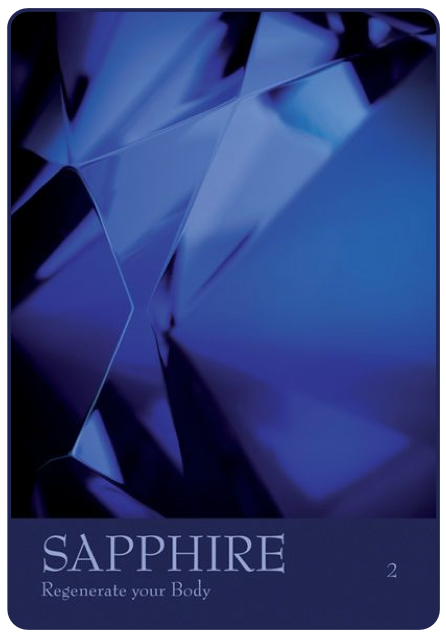 Sapphire -- from The Secret Language of Color Cards by Inna Segal