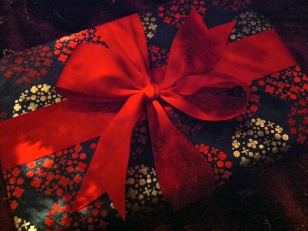 black and red gift